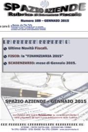 Spazio Aziende – Gennaio 2015 n. 109 » LA LEGGE FINANZIARIA 2015