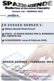 Spazio Aziende – Febbraio 2015 n. 110 » LE NUOVE REGOLE PER IL RIMBORSO DEL CREDITO IVA