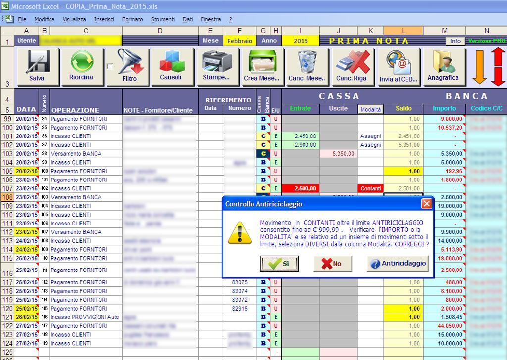 Prima Nota Contabile In Excel Ascom Se Ter Vit