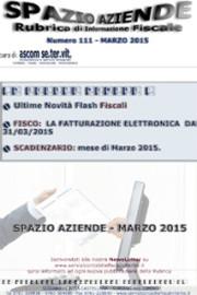 Spazio Aziende – Marzo 2015 n. 111 » LA FATTURAZIONE ELETTRONICA E GLI OBBLIGHI DAL 31-03-2015