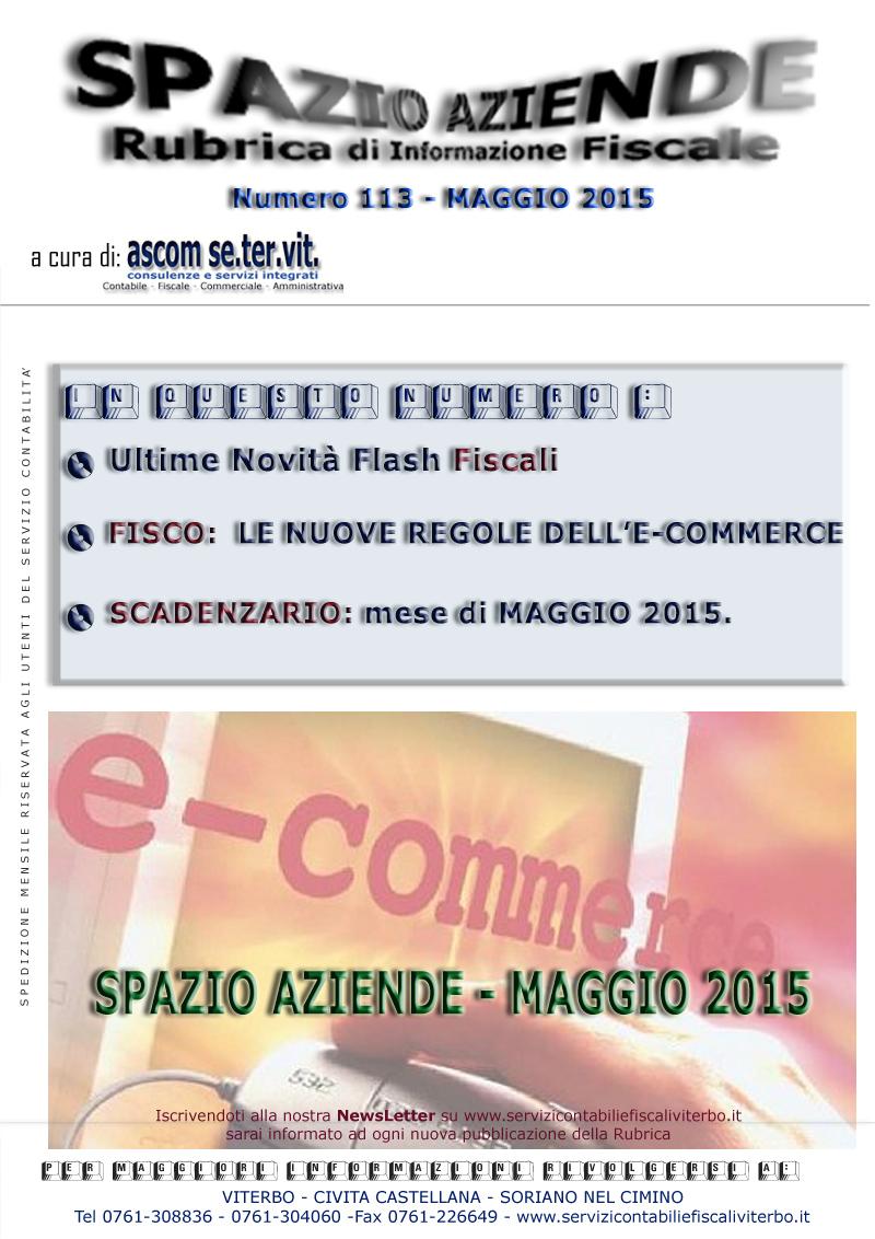 spazio aziende - 113 maggio 2015 - e-commerce