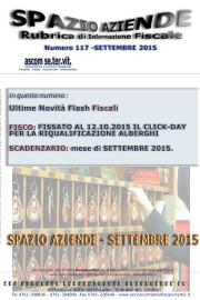 SPAZIO AZIENDE – n. 117 Settembre 2015 »FISSATO AL 12.10.2015 IL CLICK-DAY PER LA RIQUALIFICAZIONE ALBERGHI