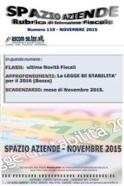 SPAZIO AZIENDE – n. 119 Novembre 2015 » LA LEGGE DI STABILITA' PER IL 2016 (Bozza)