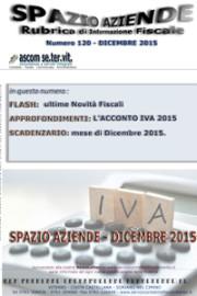 SPAZIO AZIENDE – n. 120 Dicembre 2015 » L'ACCONTO IVA 2015