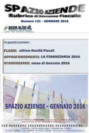 SPAZIO AZIENDE – n. 121 Gennaio 2016 » LA FINANZIARIA – Legge di Stabilità 2016