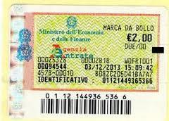 imposta marca da bollo 2 euro