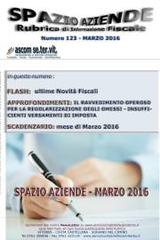 SPAZIO AZIENDE – n. 123 Marzo 2016 » IL NUOVO RAVVEDIMENTO OPEROSO E LA REGOLARIZZAZIONE DEI VERSAMENTI D'IMPOSTA