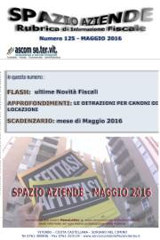 SPAZIO AZIENDE – n. 125 Maggio 2016 » LE DETRAZIONI PER CANONI DI LOCAZIONE