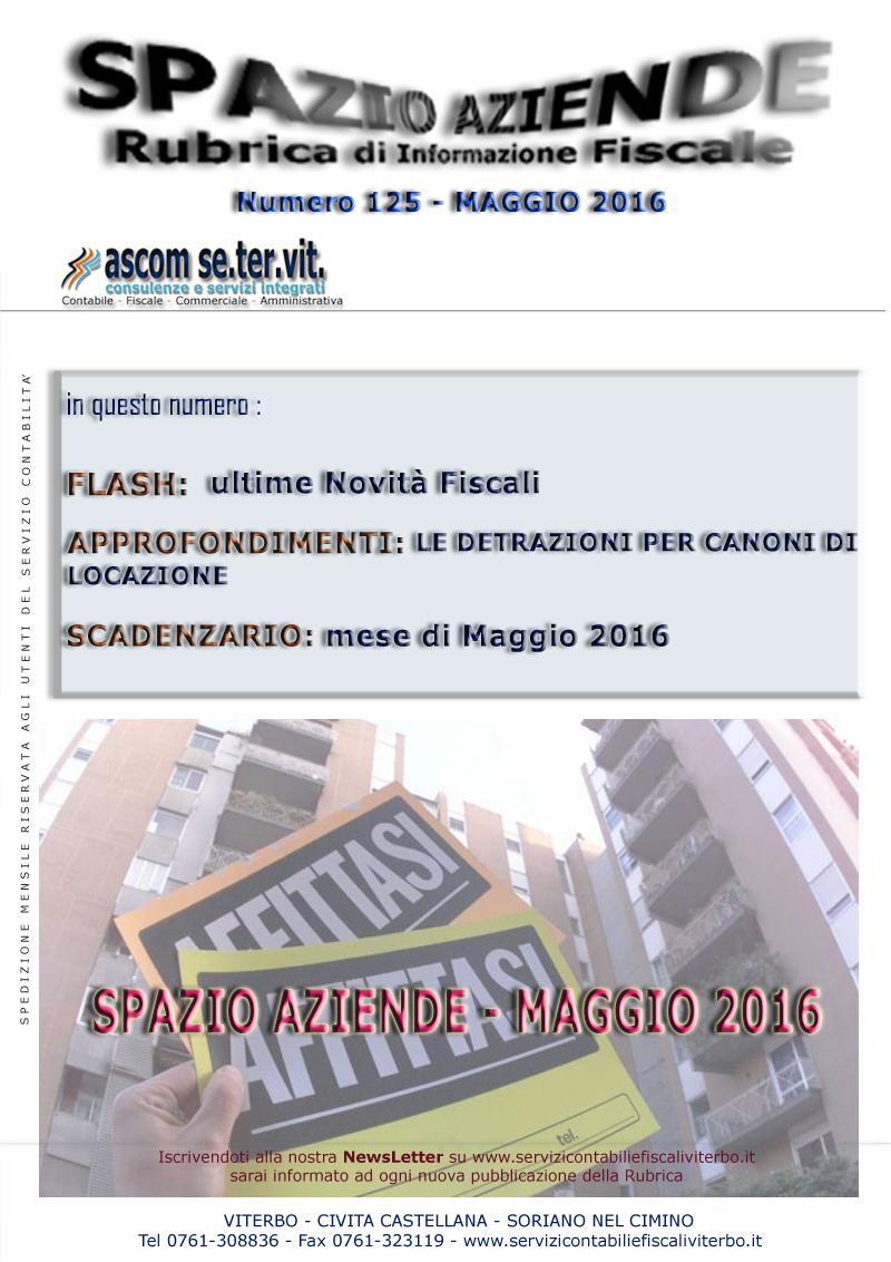 spazio aziende n. 125 - maggio 2016