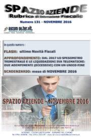 SPAZIO AZIENDE – n. 131 Novembre 2016 » DAL 2017 SPESOMETRO TRIMESTRALE E LIQUIDAZIONI IVA TELEMATICHE