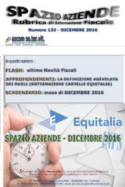SPAZIO AZIENDE – n. 132 Dicembre 2016 » LA DEFINIZIONE AGEVOLATA DEI RUOLI (ROTTAMAZIONE CARTELLE EQUITALIA)