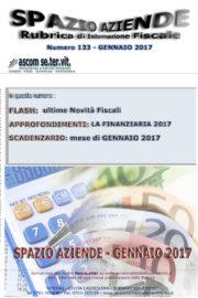 SPAZIO AZIENDE – n. 133 GENNAIO 2017 » LA FINANZIARIA 2017